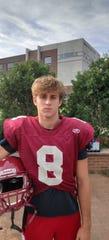 Highland Park football player Michael Adamczyk-Zapor