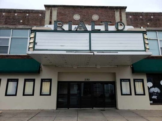 No movies are listed on the marque on the Rialto Theater in Westfield after it suddenly closed on Friday