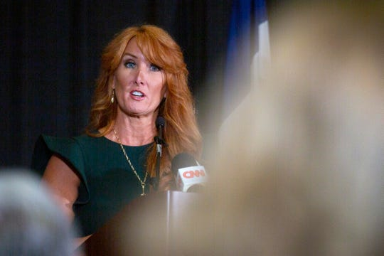 """Rebecca Kiessling, a """"No Exceptions to Life"""" news conference Friday, Aug, 23 at Des Moines' Airport Holiday Inn."""