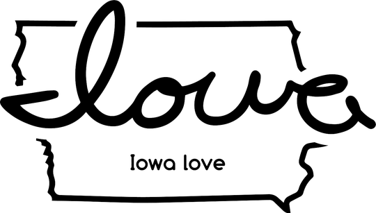 The 'Iowa love' symbol is at the center of a Waterloo-based social organization that has raised money for disaster recovery.