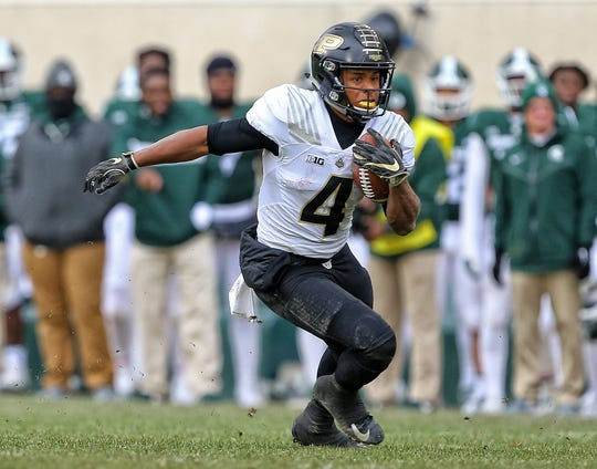 Purdue receiver Rondale Moore finished his freshman season by winning the Paul Hornung Award as the nation's most versatile player.