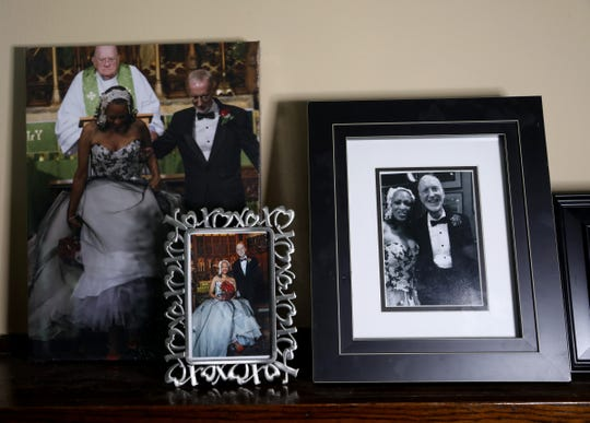 Pictures from the wedding of Detroit Free Press reporter Bill Laitner and wife, Eren Stephens who passed away in April of 2019. Stephens used to cut his hair in the bathroom of their Detroit home.