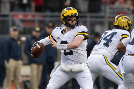 """Shea Patterson said the """"sky's the limit"""" for Michigan's new no-huddle, spread offense."""