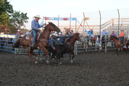 The Broken Horn Rodeo returned to the Sandusky County Fair Thursday night at the fairgrounds' grandstand area.