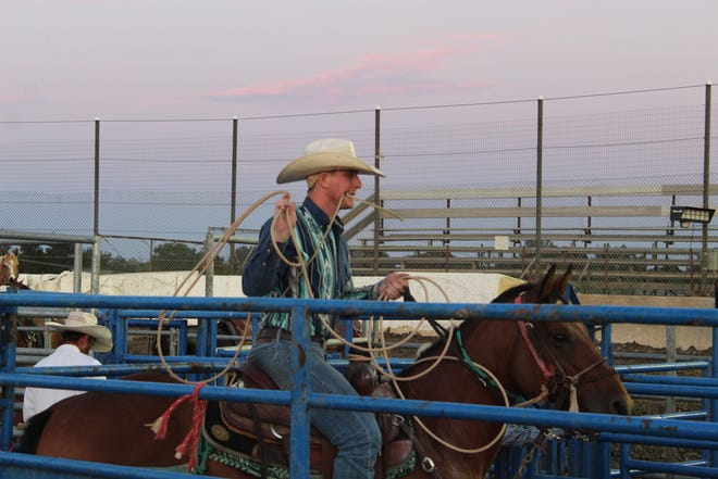 The Broken Horn Rodeo returned to the Sandusky County Fair Thursday night for an evening of calf roping, bull riding and entertainment at the grandstand area.