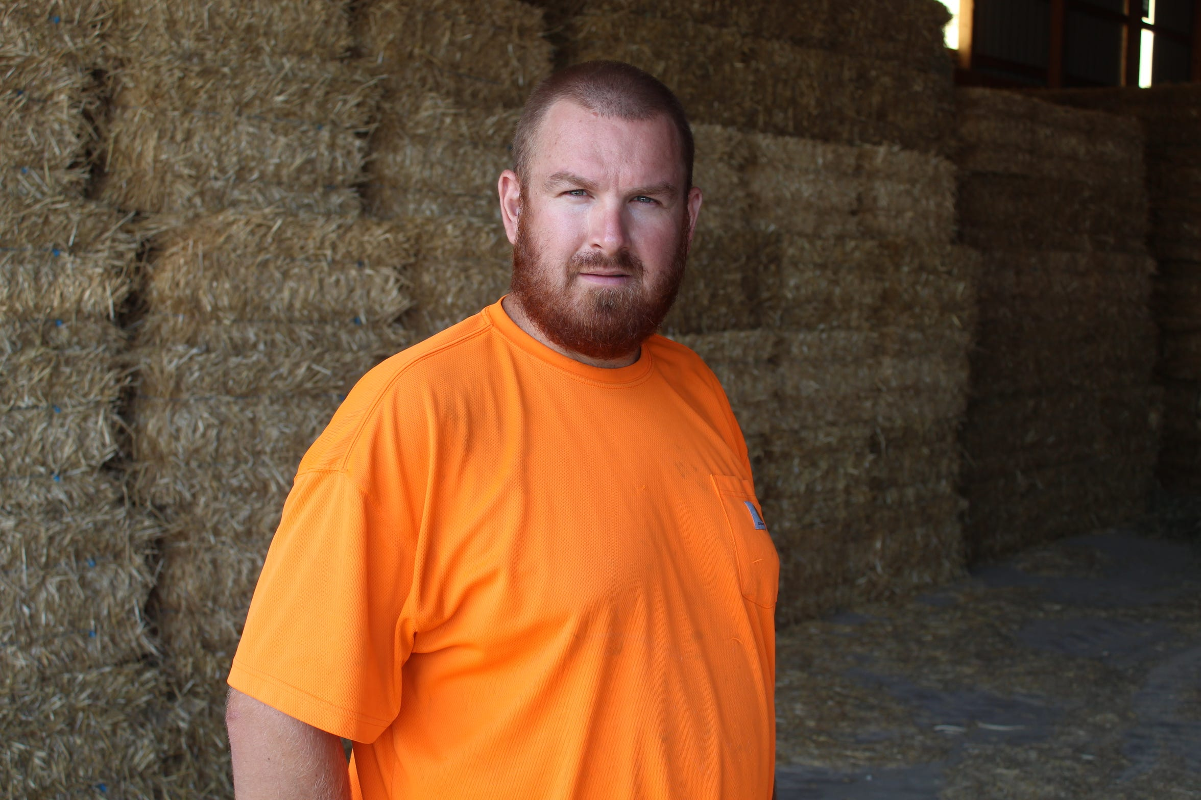 Chad Gargas said he expects to sell out of his hay stock by the end of September, six months earlier than normal.