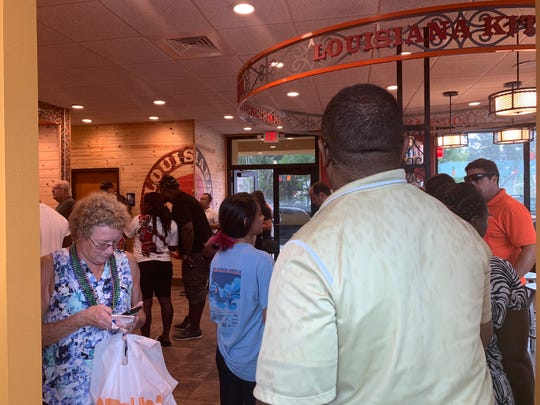 The line at the new Popeyes in Golden Gate stretched to the door in the late afternoon of Thursday, Aug. 21. The restaurant, alas, did not have chicken sandwiches.