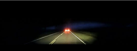 A screengrab from the dashboard camera footage shows the deputy's vehicle following Werts' car on Chappells Highway.
