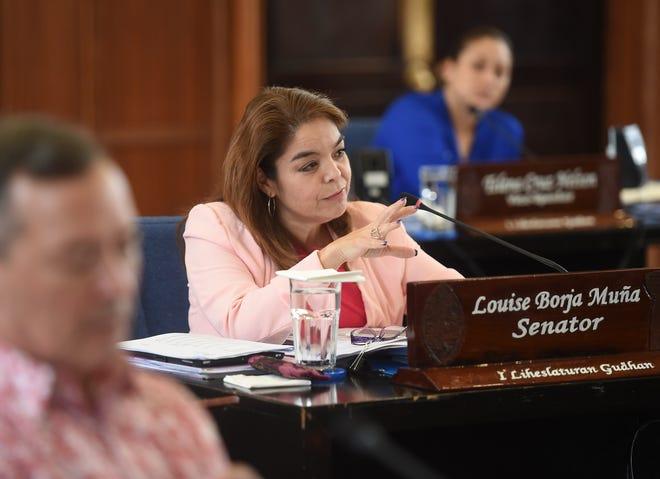 Sen. Louise Borja Muña during a session at the Guam Congress Building in Hagåtña, Aug. 23, 2019.