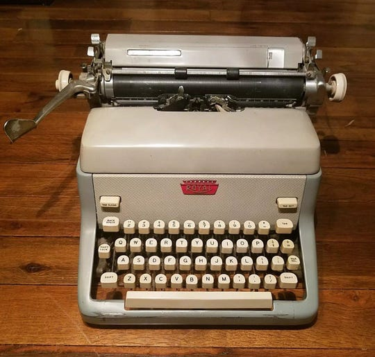 The Royal FP office typewriter — as fine a mid-century American-made manual typing instrument as was ever devised, if perhaps not as finely machined as Tom Hanks' Swiss-made Hermes 2000 portable model.