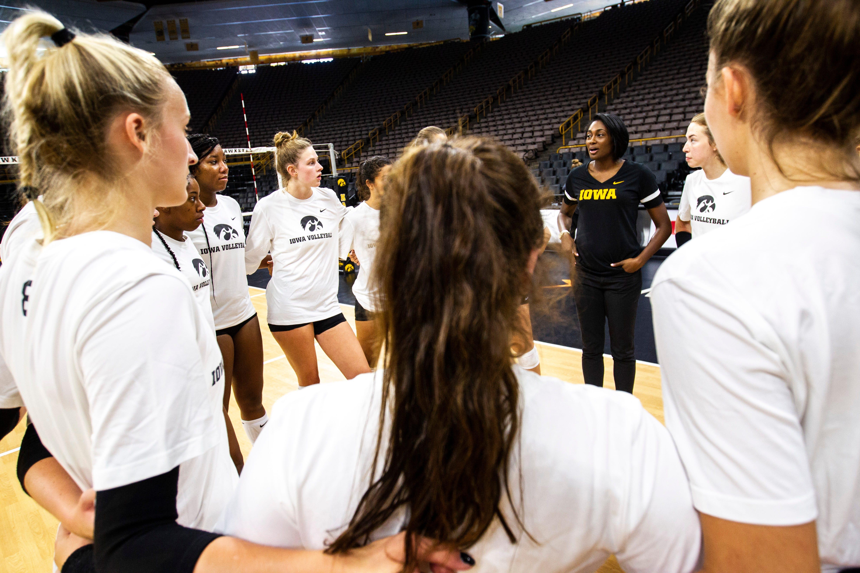 Photos: Iowa Hawkeyes volleyball media day 2019