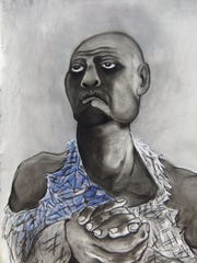 """A piece from Jean Berry's """"Job"""" series."""
