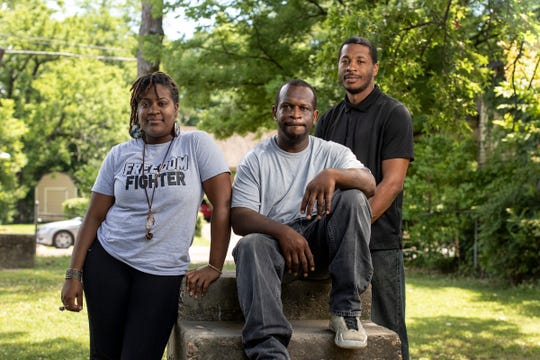 Brittany Gray, from left, Marcellus Gray and Kenderick Cox, pictured in Greenwood, Miss., on Saturday, June 15, 2019, are concerned for the safety of children who have fallen prey to gun violence in their small Mississippi Delta town.