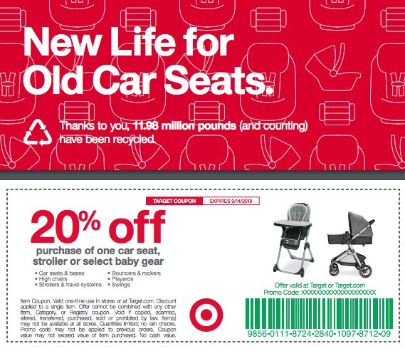 Target Offers Discount For Car Seat Trade In