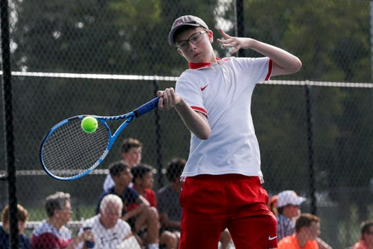 Aaron Morris teamed with Allen Tan to win at No. 2 doubles for West Lafayette in the sectional championship.