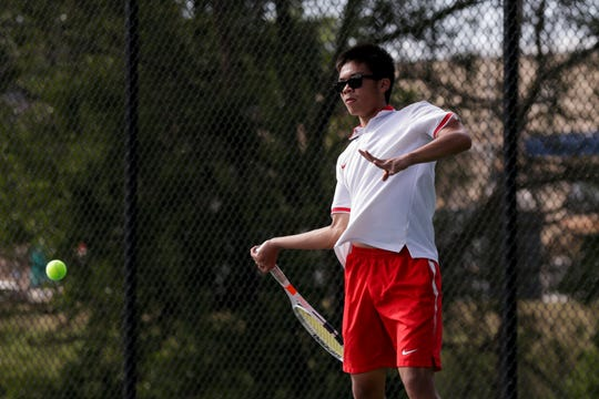 Allen Tan teamed with Aaron Morris for a Hoosier Conference championship at No. 2 doubles.
