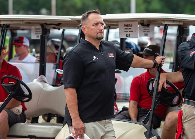Ragin' Cajuns baseball coach Matt Deggs is shown at The Robe Golf Tournament held last August in Lafayette to benefit the family of Deggs' predecessor Tony Robichaux, who died in July.