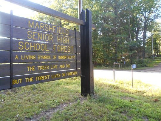 The Marshfield School Forest is located at 11450 Wood County N in the town of Rock.