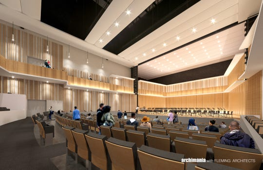 The public can see additional photo and video renderings of The University of Memphis's new music center at an arts celebration on Oct. 5.