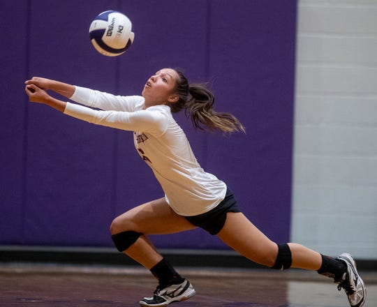 Alabama Christian's Jacey Haynes against Prattville Christian on the PCA campus in Prattville, Ala., on Thursday August 22, 2019.