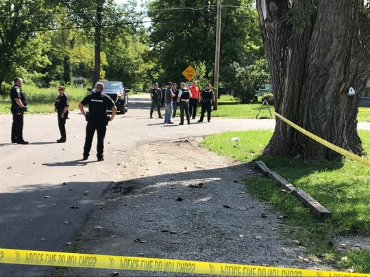 Muncie police investigate a reported shooting at Princeton and Hartford avenues in the Morningside neighborhood Friday  morning.
