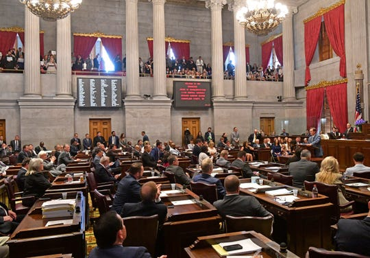 House members in the 111th General Assembly elected their second speaker of the year on Friday, as Cameron Sexton officially took over as the top leader of the chamber and ushered in changes that signaled a new era in the House. Friday, Aug. 23, 2019, in Nashville, Tenn.