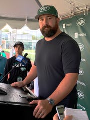 Ryan Kalil was introduced Saturday, Aug. 3, 2019, after signing a one-year deal with the New York Jets at the Jets' facility in Florham Park, NJ.