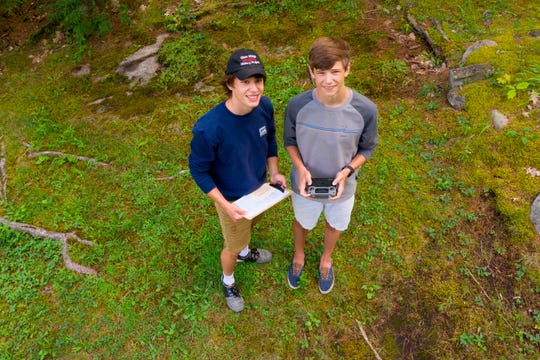 John and Nick Steinmetz, 17, learned how to use and photograph from a drone from their father, who is a professional photographer.