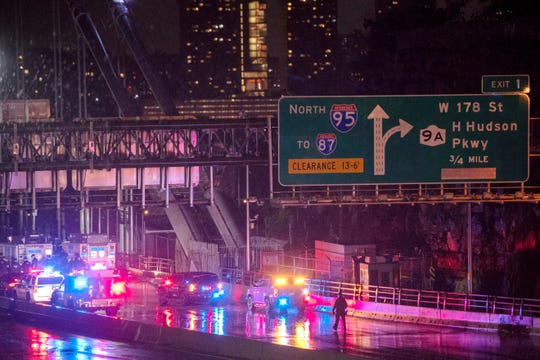 The upper level of the George Washington Bridge was shut down in both directions due to a suspicious device authorities said on Thursday, August 22, 2019.