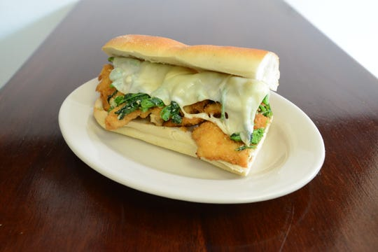 Bogie's Hoagies, a shop owned by Paul Beaugard, in Hawthorne features: Hoagie with chicken cutlet, broccoli rabe, provolone. Carmine Galasso/Staff Photographer.