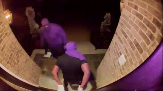 Police are looking for three suspects who kicked down the door of an Emerson home, stealing jewelry and cash.
