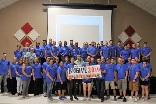 Alamo's Big Give After Party was August 22 at the Sgt. Willie Estrada Civic Center in Alamogordo. Groups of volunteers from Holloman Air Force Base were honored for their work in the community and some groups won prizes.