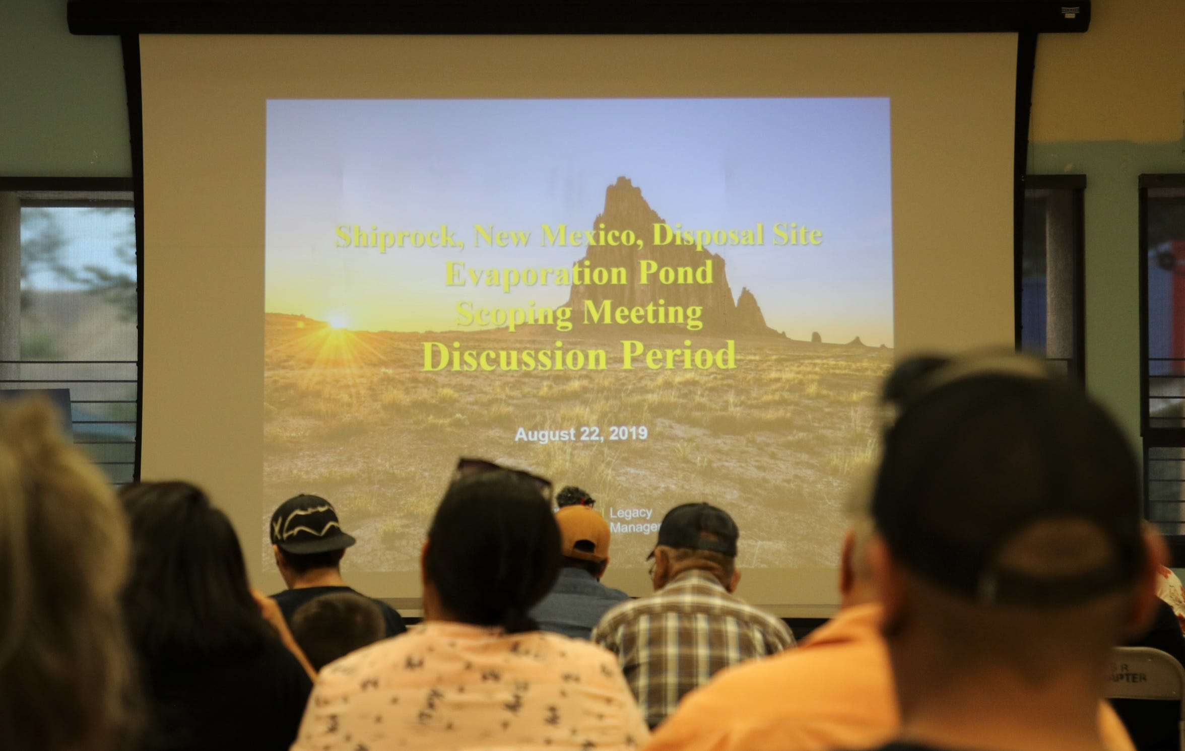 Dozens attended the scoping meeting by the U.S. Department of Energy's Office of Legacy Management on Aug. 22 at the Shiprock Chapter house.