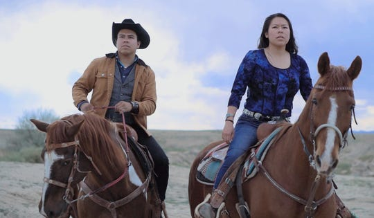 "Kody and Kolette Dayish are featured in a scene from the film ""Parole,"" which will be screened during the Never Give Up Film Festival on Aug. 25 in Shiprock."