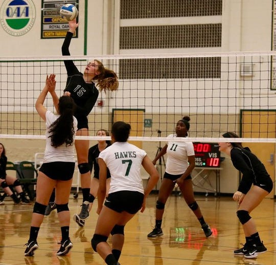 Middle blocker Ellie Ruprich is ready for her senior season with the Groves volleyball team.