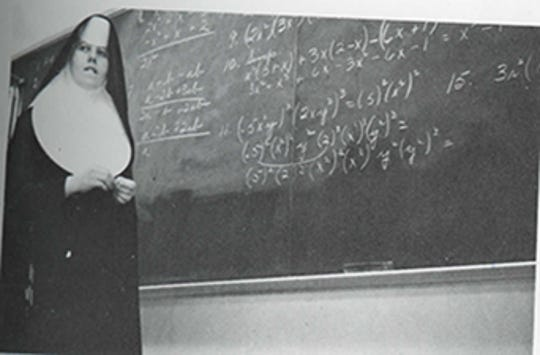 Regina Doelker when she was a math teacher at Mercy High School.