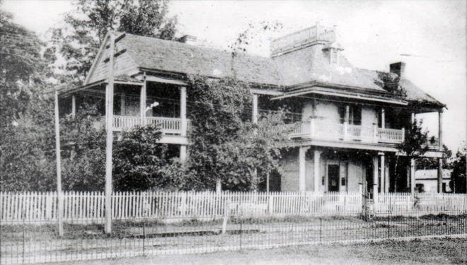 Aunt Mag's Opelousas Female Institute shown here in the early part of the 20th century on the corner of Court and South streets in Opelousas.
