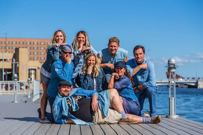 The Oshkosh Kids Foundation crew shows off their Canadian tuxedos. A Canadian Tuxedo Contest is one of many events taking place Aug. 31 at Celebrate Oshkosh.