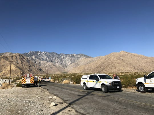 Palm Springs firefighters on Friday contained a 22-acre brushfire that burned overnight near North Palm Canyon and Tramway roads. The fire was contained at 6:30 a.m. Friday.