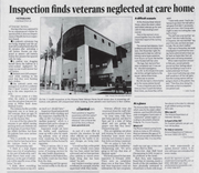 A clipping from The Arizona Republic on March 24, 2007, about Arizona State Veteran Home.