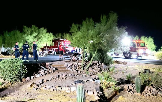Search and Rescue personnel found a group of 44 hikers stuck on trail at Lost Dutchman State Park on Aug. 22, 2019.
