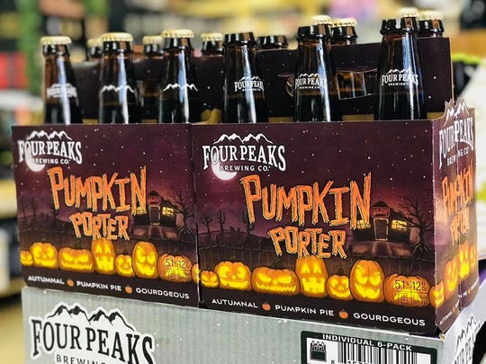 Four Peaks Pumpkin Porter at the Craft Beer Hop Stop.
