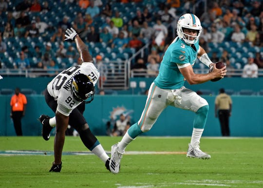 Some media members are clamoring for  Josh Rosen to be the Miami Dolphins' starting quarterback over Ryan Fitzpatrick.