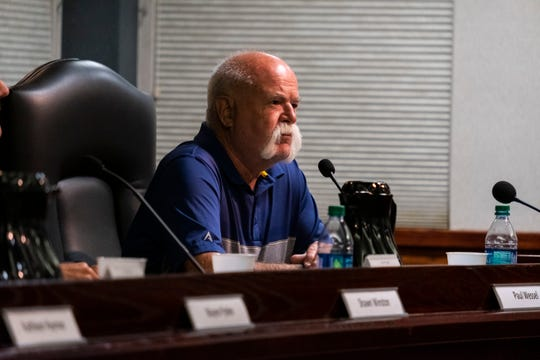 Marysville City Council candidate Paul Wessel speaks during a candidate forum Thursday, Aug. 22, 2019, at Marysville City Hall. Wessel, a current city councilman, is hoping to be reelected.