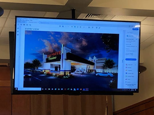 Penn National unveiled the design of its Hollywood Casino, on Thursday, Aug. 22.