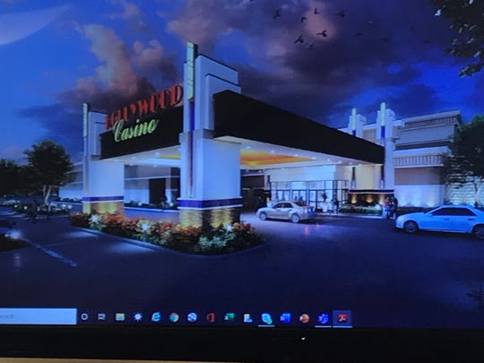 Penn National presented this drawing for the Hollywood Casino York. It was shown on an overhead television screen for the public to see.