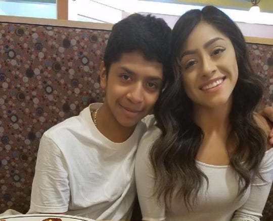 Julio Alonso with his sister Karen. Julio, 15, was killed in a triple shooting Sunday in Sun Valley.