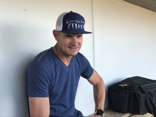 Eric Byrnes was back at Greater Nevada Field on Thursday.