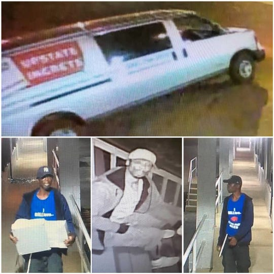 Police are looking for help in identifying the man in these photos. The man is being sought for questioning in a string of burglaries in Irondequoit on Aug. 19.