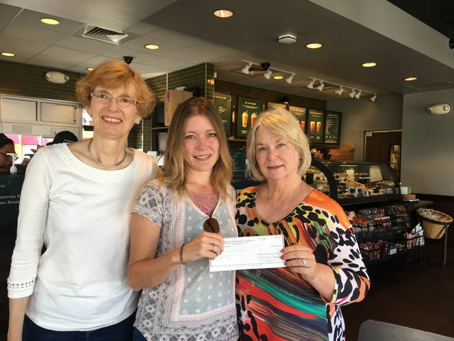From left: Nancy Treadwell, Education Chair; Amy McKinney, grant recipient; and Joy Economidis, Chapter FG President.